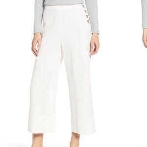 NWOT Good Luck Gem Size M White Linen Pants